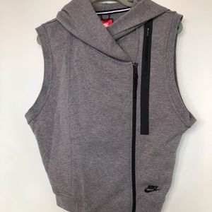 Nike athletic vest with funky hood. Sz S.